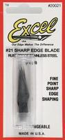 Excel Straight Cut Blades (5) Model and Hobby Knife Blade #20021