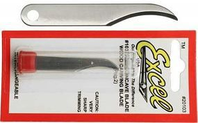 Excel #103 Semi-Concave Blade (2) Model and Hobby Knife Blade #20103