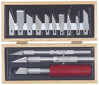 Excel Hobby Blades Basic Knife Set in Wooden Box