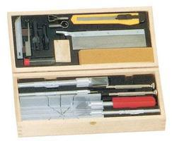 Excel Deluxe Knife & Tool Set- Knives, Blades, Gouges, Routers, Mitre Box, Screwdrivers, Awl)