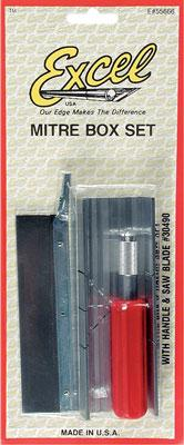 Excel Mitrebox & Razor Saw Set