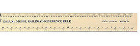 Excel 12'' Aluminum Deluxe N, HO, O, G Scale Model Railroad Reference Ruler