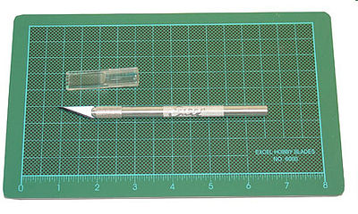 Excel Precision Cutting Kit, Carded Miniature Cutting Set w/K1 Knife