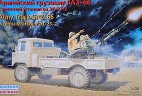 Eastern-Express GAZ66 Russian Military Truck Plastic Model Military Vehicle Kit 1/35 Scale #35132