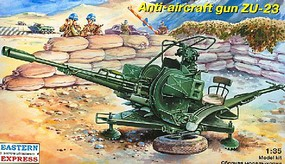 Eastern-Express ZU23 Russian Anti-Aircraft Gun Plastic Model Military Kit 1/35 Scale #35135