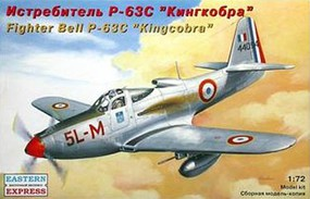 Eastern-Express Bell P63C Kingcobra French Fighter Plastic Model Airplane Kit 1/72 Scale #72141