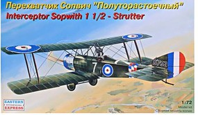 Eastern-Express Sopwith 1-1/2 Strutter British BiPlane Interceptor Plastic Model Airplane Kit 1/72 #72157
