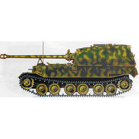 Easy-Models ELEFANT 653rd Italy 1944 Pre-Built Plastic Model Tank 1/72 Scale #36228