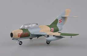 Easy-Models MIG-15 UTI Polish Air Force Pre-Built Plastic Model Airplane 1/72 Scale #37139