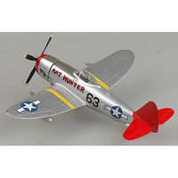 Easy-Models P-47D Thunderbolt Red Tails Pre-Built Plastic Model Airplane 1/72 Scale #39204