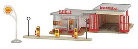 Faller B-217 Retro Gas Station HO Scale Model Railroad Building Kit #109217