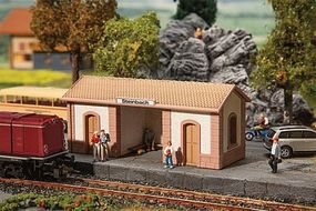 Faller Steinbach Wayside Station/Stucco Commuter Stop Kit Model Railroad Building #110086