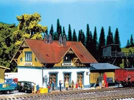 Faller Blumenfeld Depot Kit HO Scale Model Railroad Building #110097