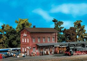 Faller Waldbrunn Station (Weathered Model) Kit HO Scale Model Railroad Building #110099