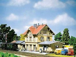 Faller Guglingen Rural Station Kit HO Scale Model Railroad Building #110107