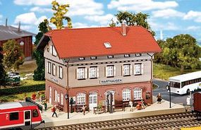 Faller Warthausen Station Kit (Weathered) HO Scale Model Railroad Building #110123