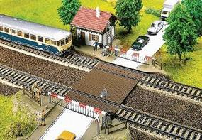 Faller Grade Crossing w/Gates Kit HO Scale Model Railroad Accessory #120174