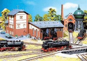 Faller Three-Stall Roundhouse HO Scale Model Railroad Building #120176