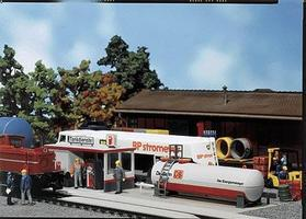 Faller German Railways Service Station HO Scale Model Railroad Building #120196