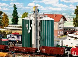 Faller Double Silo w/Elevator Kit HO Scale Model Accessory #120260