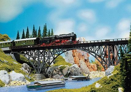Faller Gmbh Deck Arch Bridge Kit 36 x 6.5 x 11.9cm -- HO Scale Model Bridge -- #120541