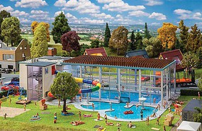 Faller Indoor Swim Pool with Slide HO Scale Model Railroad Building Kit #130150