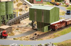 Faller Quarry Railcar & Truck Loader Kit HO Scale Model Railroad Accessory #130171