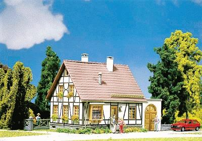 Faller Timbered House w/Garage Kit HO Scale Model Accessory #130215