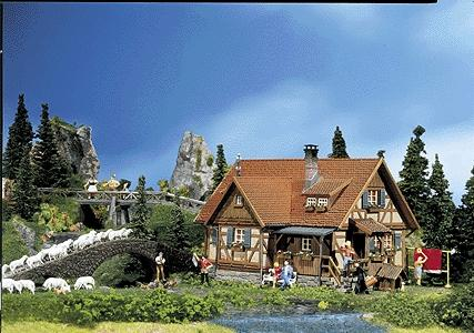 Faller Rural Half-Timbered House HO Scale Model Railroad Building #130270
