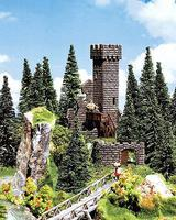 Faller Castle Tower Ruins HO Scale Model Railroad Building #130285