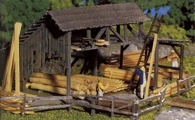 Faller Gmbh Timber Yard -- HO Scale Model Railroad Building -- #130288