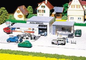 Faller Gas Station with Car Wash HO Scale Model Railroad Building #130296