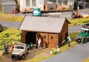 Faller 2-Car Garage Kit HO Scale Model Railroad Building #130325