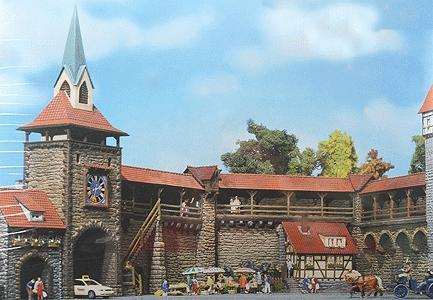 Faller Gmbh Old Town Wall Set Kit -- HO Scale Model Railroad Building -- #130401