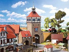 Faller City Wall Gate with Gate House Kit HO Scale Model Railroad Building #130406