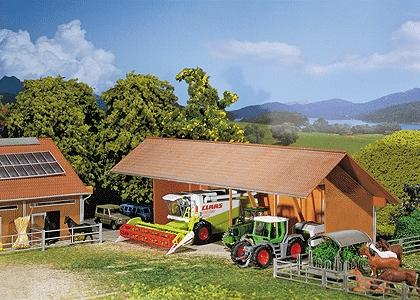 Faller Implement Shed Painted & Weathered Era V HO Scale Model Railroad Building #130521