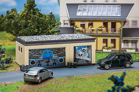 Faller Double Garage with Drive HO Scale Model Railroad Building #130621