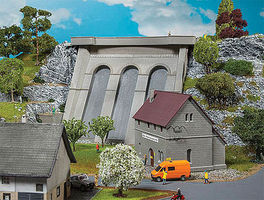 Faller Power Station with Dam HO Scale Model Railroad Building #130943