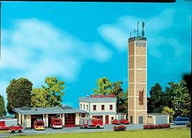 Faller Fire Station Kit HO Scale Model Railroad Building #130989