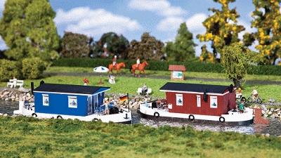 Faller Houseboat Kit HO Scale Model Railroad Building #131008