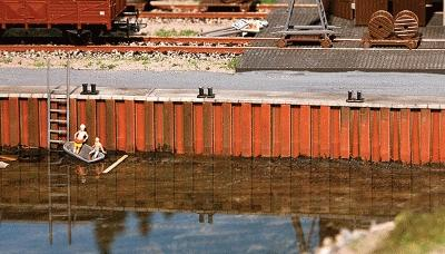 Faller Gmbh Quay Wall Painted Kit - HO-Scale