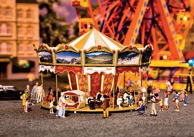 Faller Gmbh Children's Merry Go Round Kit -- HO Scale Model Railroad Building -- #140316