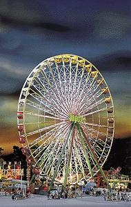 Faller Gmbh Jupiter Ferris Wheel Kit -- HO Scale Model Railroad Building -- #140470