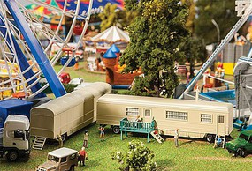 Faller Funfair/Circus/Carnival Trailers Set #2- 1 Each- Covered & House/Changing Room