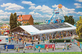 Faller Large Marquee Funfair HO Scale Model Railroad Building #140495