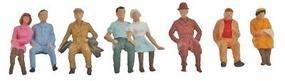 Faller Sitting Persons II (8) HO Scale Model Railroad Figure #150702