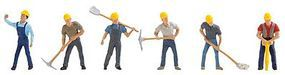 Faller Quarry Workers (6) HO Scale Model Railroad Figure #150910