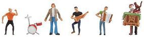 Faller Small Band/Street Musicians (5) HO Scale Model Railroad Figure #150912
