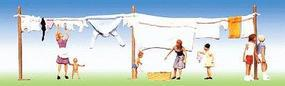 Faller Washday with Clothesline HO Scale Model Railroad Figure #151014