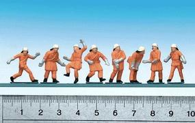 Faller Emergency Workers Firemen w/Orange Uniforms (Action Poses) HO Scale Model Figures #151036